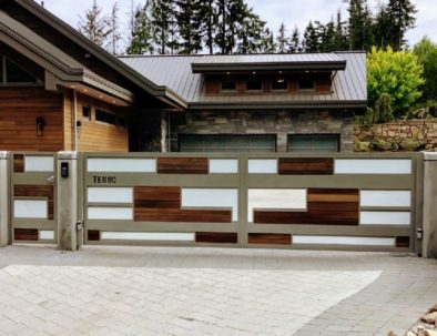 Aluminum, Glass and Wood Gate and Door, Anmore