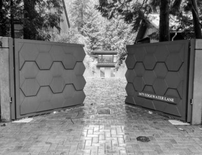 Double Swing Driveway Gate, North Vancouver
