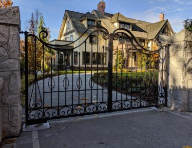Wrought Iron Driveway Gate, Shaughnessy