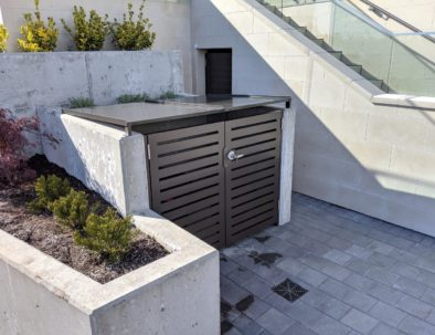 Secure Custom Garbage Enclosure, West Vancouver