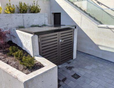 Aluminum Garbage Enclosure, West Vancouver