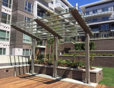 Custom Steel and Glass Trellis, Vancouver