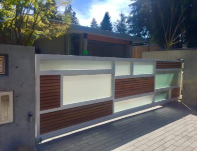 Cantilever Driveway Gate, West Vancouver