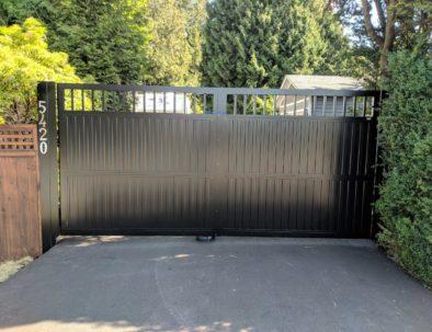 Aluminum Double Swing Gate, Langley