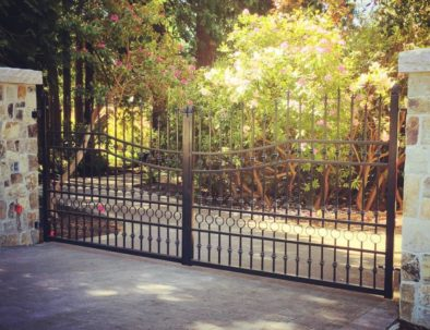 Wrought Iron Driveway Gate, South Surrey