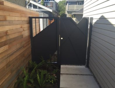 Aluminum Pedestrian Door and Panel, Vancouver