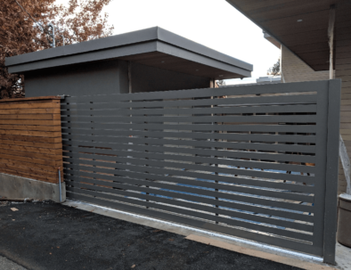Laneway Access Sliding Gate, North Vancouver