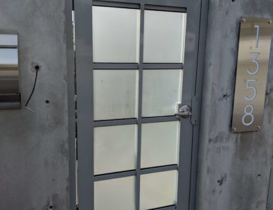 Glass and Aluminum Pedestrian Door, West Vancouver
