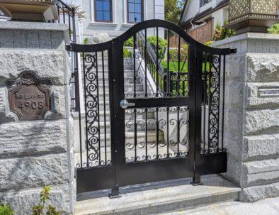Aluminum Pedestrian Door with Side Panels Vancouver