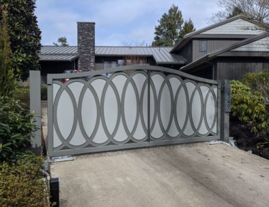 Double Swing Driveway Gate, Vancouver