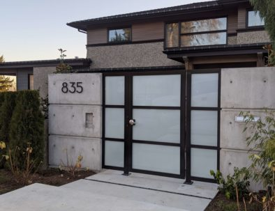 Pedestrian Door with Side Panels, North Vancouver