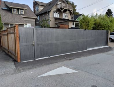 Double Sliding Gates with Pedestrian Door, Vancouver
