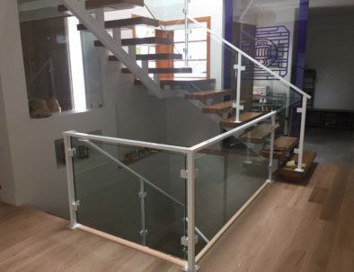 Glass and Aluminum Floating Staircase, Burnaby