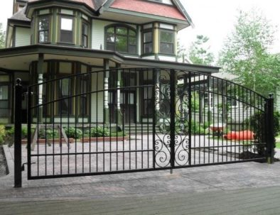 Wrought Iron Double Swing Gate, Heritage House