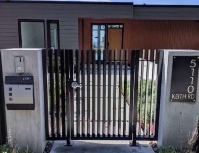 Pedestrian Door with Side Panels, West Vancouver