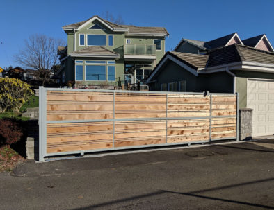 Sliding Driveway Gate, North Vancouver