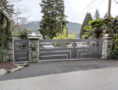 Double Swing Gate & Pedestrian Door, Belcarra