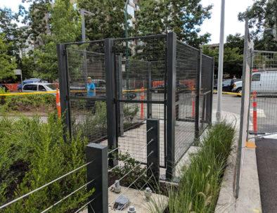 Wire Mesh Garbage Enclosure, Vancouver