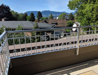 Wrought Iron Deck Railing, Vancouver