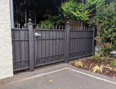 Wrought Iron Fence and Gate, Vancouver