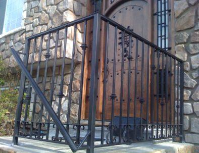 Wrought Iron Guardrail and Handrail, Maple Ridge