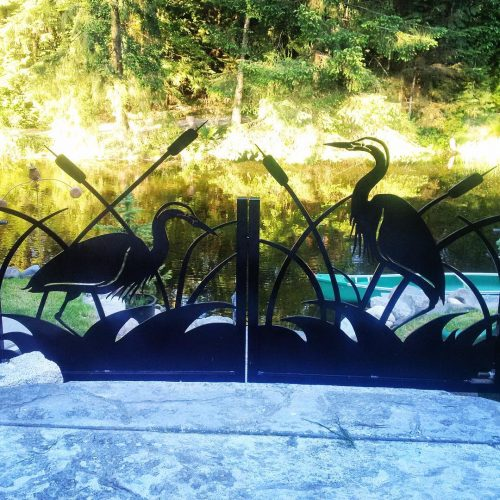 Decorative Aluminum Garden Gate, Coquitlam